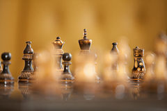 Chess Figures Background Stock Photography