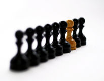 Chess Figures Bishops Royalty Free Stock Photography
