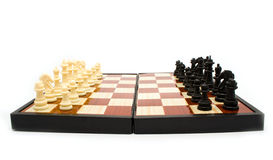Chess figures on a board Royalty Free Stock Photography