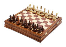 Chess figures on the board Stock Images