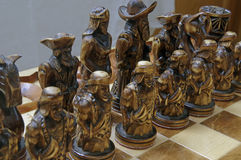 Chess figures on board Royalty Free Stock Images