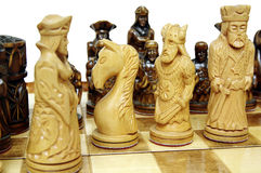 Chess figures on board Royalty Free Stock Photo