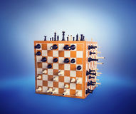 Chess figures on the boards Stock Images