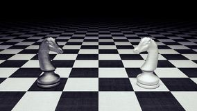 Chess figures business concept 3d render. 3d illustration Royalty Free Stock Image
