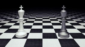 Chess figures business concept 3d render. 3d illustration Stock Photos