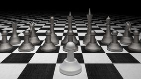 Chess figures business concept 3d render. 3d illustration Stock Photo