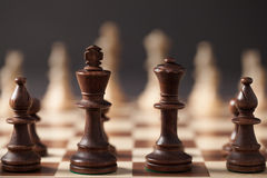 Chess Figures On The Chess Board Stock Photo