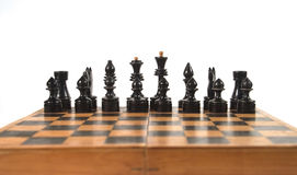 Chess figures on the chessboard Royalty Free Stock Photography