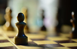 Chess figures on a chessboard Royalty Free Stock Photo