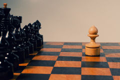 Chess figures on the chessboard Stock Images