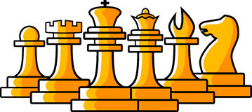 Chess figures illustration Royalty Free Stock Images