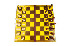 Chess figures isolated Royalty Free Stock Images
