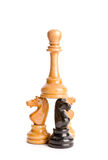 Chess figures isolated Stock Image