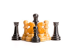 Chess figures isolated Stock Images