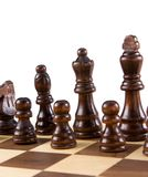 Chess figures isolated on white Stock Images