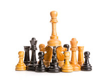 Chess figures isolated Royalty Free Stock Photo