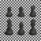 Chess Figures Isometric, Vector Illustration. Royalty Free Stock Photos