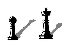 Chess figures. Leadership concept. Royalty Free Stock Image