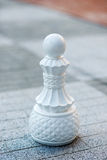 Chess figures outdoor. Royalty Free Stock Images