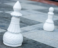 Chess figures outdoor. Royalty Free Stock Photography
