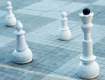 Chess figures outdoor. Stock Image