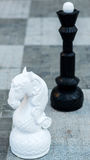 Chess figures outdoor. Royalty Free Stock Image