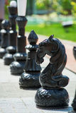 Chess figures outdoor. Stock Photos