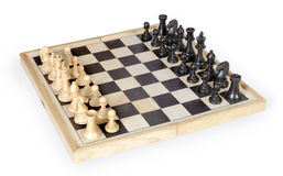 Chess figures on playing board. Chess figures on the playing board Royalty Free Stock Images