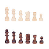 Chess figures set isolated Royalty Free Stock Photography