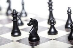 Chess figures - strategy and leadership Royalty Free Stock Image