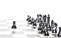 Chess figures - strategy and leadership concept Stock Photos