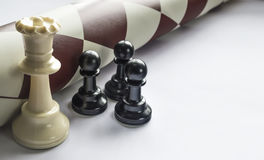 Chess figures. Strategy and leadership concept Royalty Free Stock Images