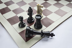 Chess figures. Strategy and leadership concept Royalty Free Stock Image