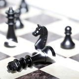 Chess figures - strategy and leadership Royalty Free Stock Photos
