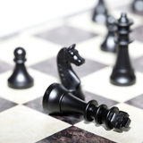 Chess figures - strategy and leadership Stock Photo