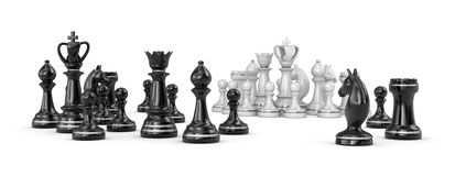 Chess figures  on a white Royalty Free Stock Photography