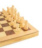 Chess figures on white Royalty Free Stock Photos