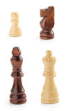 Chess figures on white Stock Photography