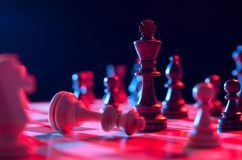 Chess financial, leader strategy in business Royalty Free Stock Photography