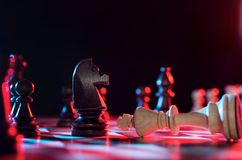 Chess financial business strategy concept Royalty Free Stock Photos