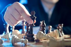 Chess financial, leader strategy in business Royalty Free Stock Image