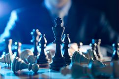 Chess financial, leader strategy in business Stock Photo