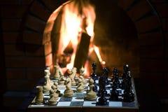 Chess fireplace Stock Image