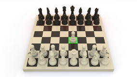 Chess first move. Commont first move on chess game stock illustration