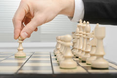 Chess, first move Royalty Free Stock Image