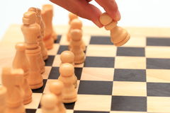 Chess - the first move Stock Image