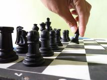 Chess first step Royalty Free Stock Photography