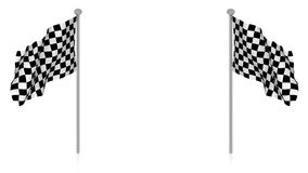 Chess flag blank Royalty Free Stock Image