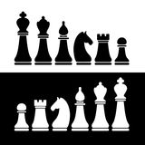 Chess flat figures vector set. Royalty Free Stock Image