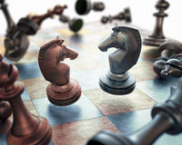 Chess Floating Royalty Free Stock Photos